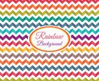 Rainbow Chevron Background Vector