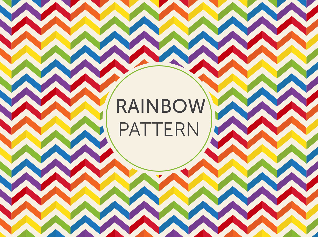 Chevron Rainbow Background