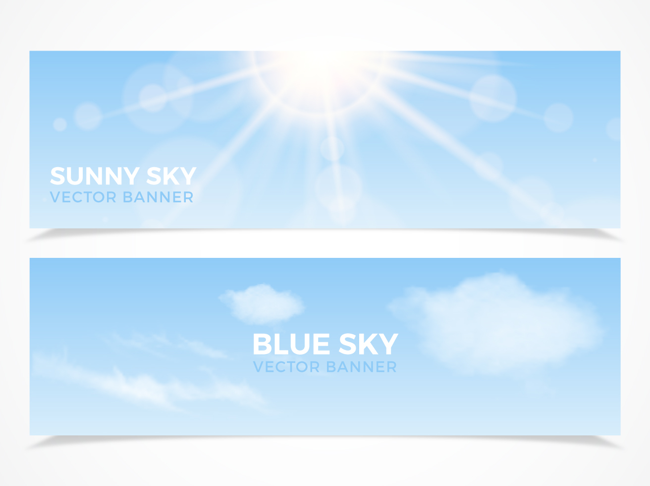 Free Sky Vector Banners