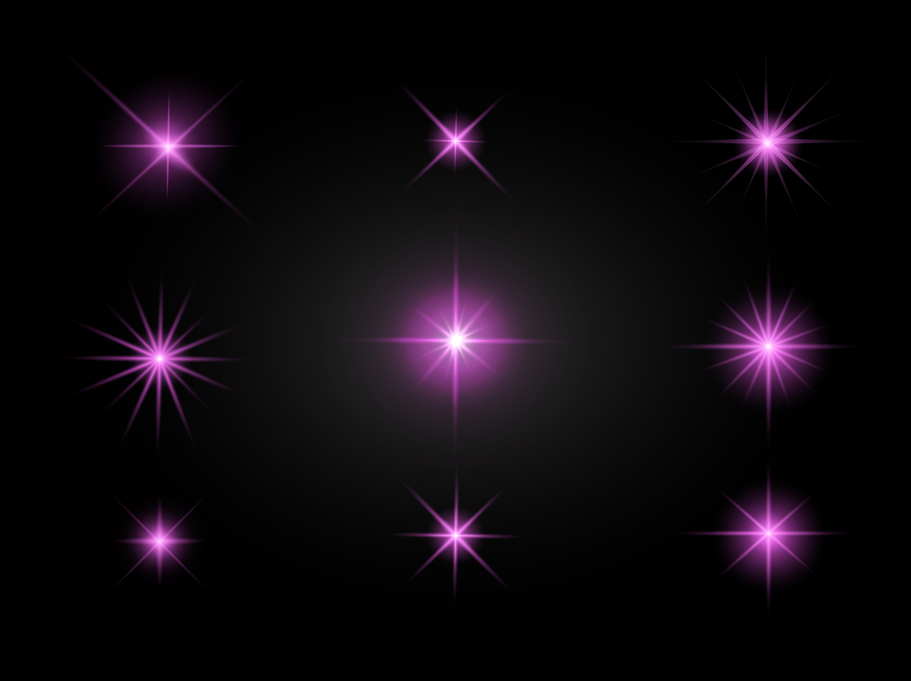 Free Pink Sparkles Vector Set