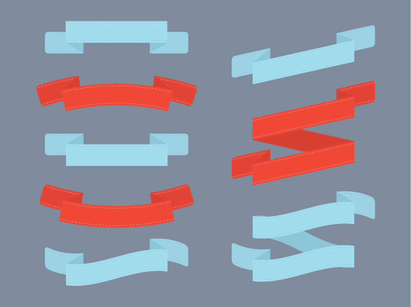 Ribbon Flat Vector