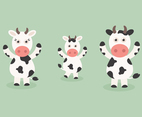 Free Vector Cartoon Cow Set