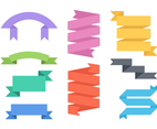 Free Flat Vector Ribbons