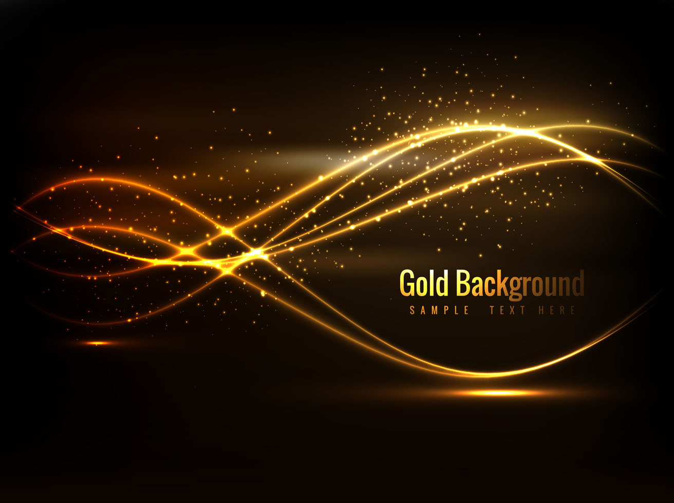 Free Vector Beautiful Gold Background