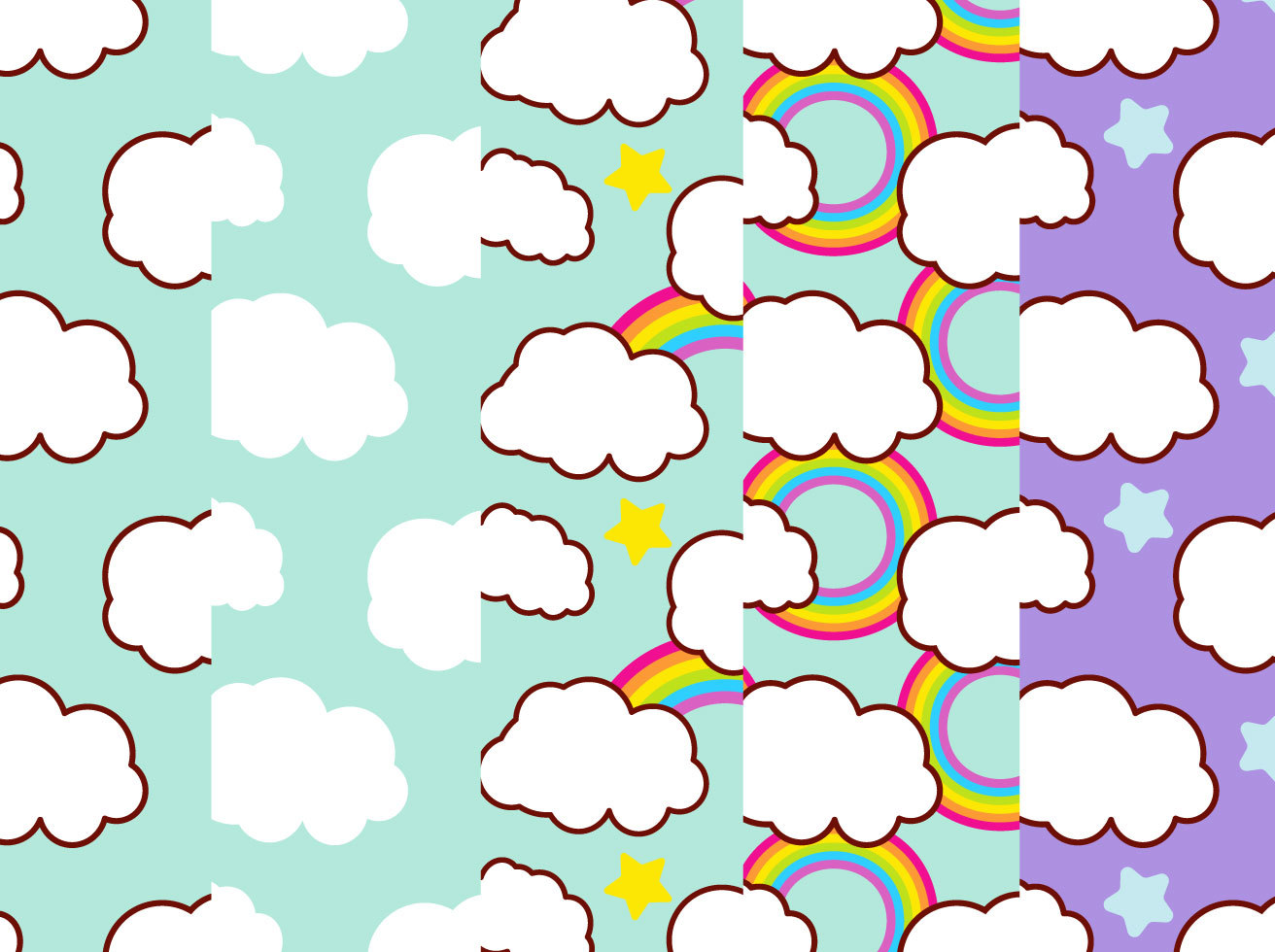 Sky Pattern Background Set