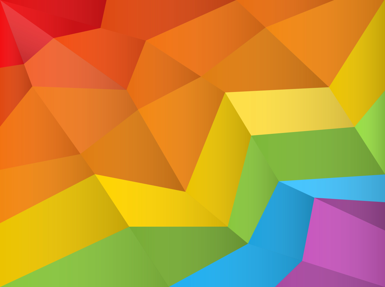 Free Polygonal Rainbow Background Vector