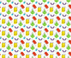 Free Rainbow Colored Shape Background Vector