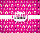 Skull Pink Background