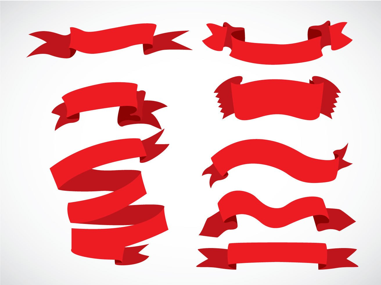 red ribbons vector sets vector art graphics freevector com rh freevector com ribbon vector art free cancer ribbon vector art