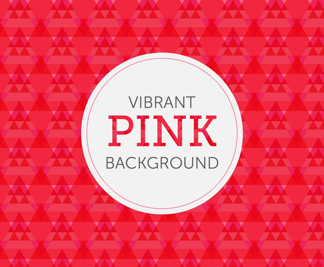 Vibrant Pink Geometric Background Vector