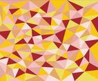 Warm Polygonal Abstract Vector Background