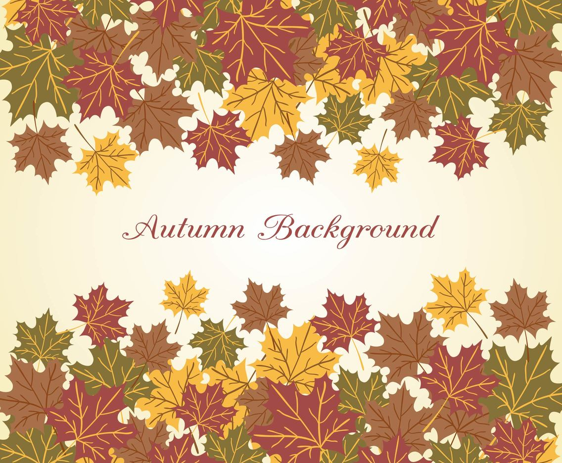 Beautiful Autumn Vector Background