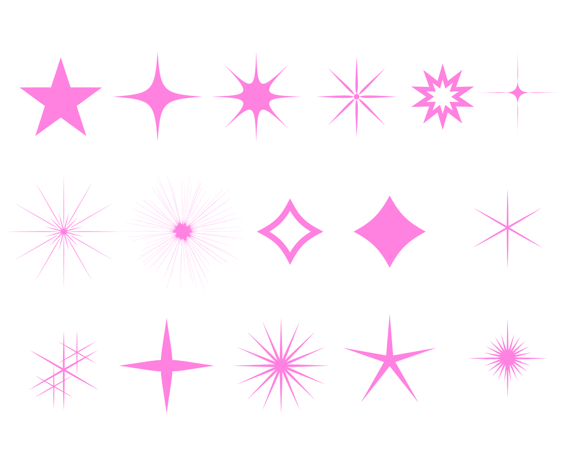 Free Pink Sparkles Vector