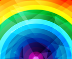 Free Rainbow Vector Background