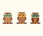 Free Vector Cartoon Owl set