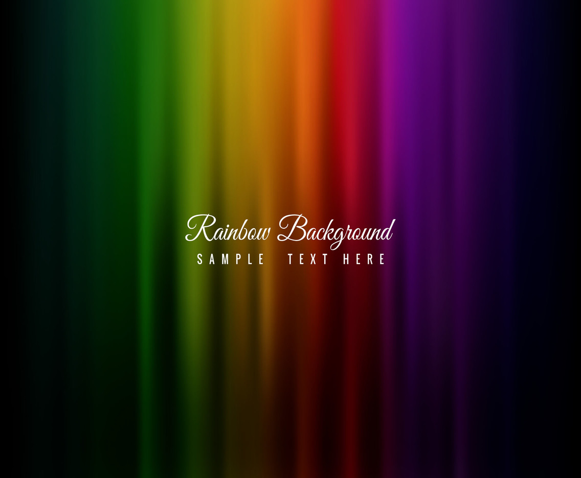 Free Dark Vector Rainbow Background