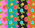 Tropical Floral Background Set