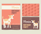 Vector Cow Birthday Invite