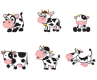 Free Cartoon Cow Vector