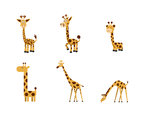 Free Cartoon Girafe Vector