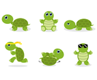 Free Cartoon Turtle Vector