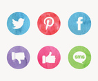 Free Watercolor Social Media Vector Icons