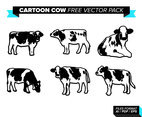 Cartoon Cow Free Vector Pack