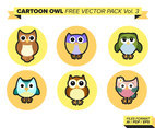 Cartoon Owl Free Vector Pack Vol. 3