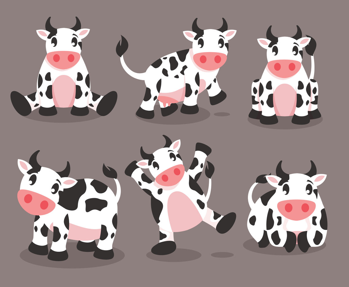 Cartoon Cow Vector