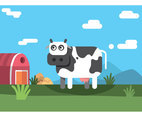 Cartoon Cow Vector Design
