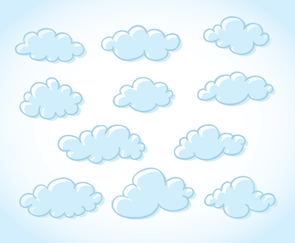 Cartoon Clouds In Sky Vector