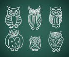 Doodle Cartoon Owl Vector