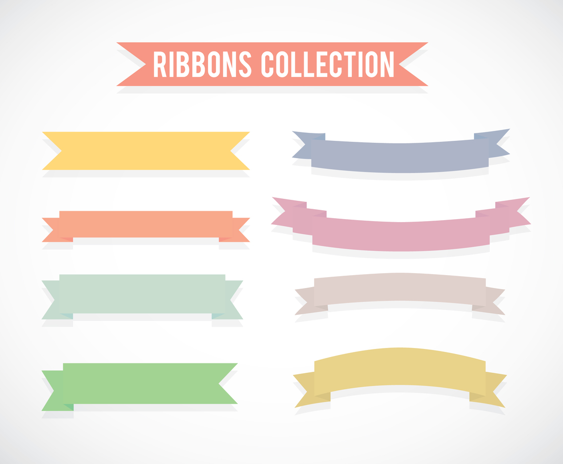 Colorful Ribbons Set Vector