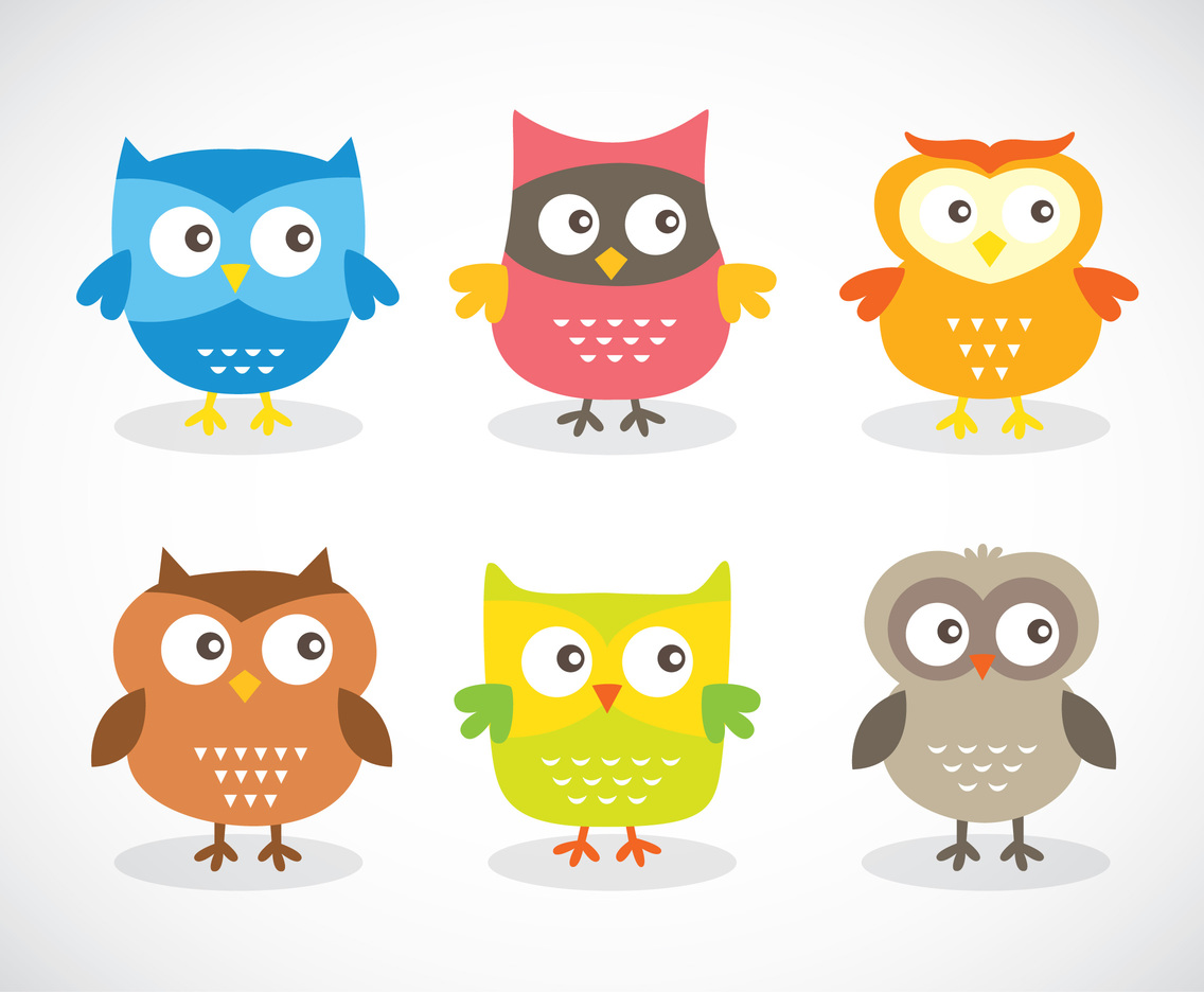 Funny Cartoon Owl Vector Vector Art & Graphics ...