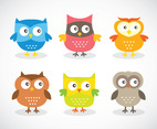 Funny Cartoon Owl Vector