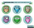 Cartoon Owl Free Vector Pack Vol. 2