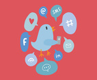 Twitter Bird Icon Vectors