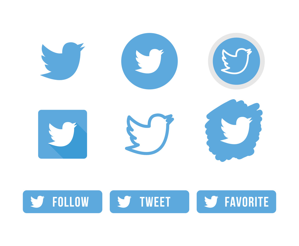 twitter bird icons vector art amp graphics freevectorcom
