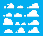 White Clouds Vector Set