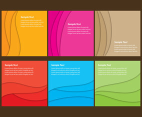 Abstract Waves Templates