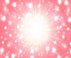 Pink Vector Background With Shining Lights
