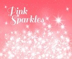 Vector Pink Background With Glowing Stars