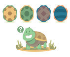 Cartoon Turtle Vector Set