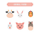 Hand Drawn Farm Animal Vectors