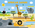 Free African Safari Vector Background