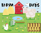 Free Farm Life Vector Background