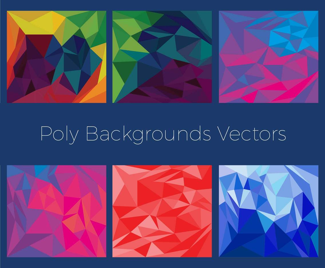 Free Poly Vector Background Pack