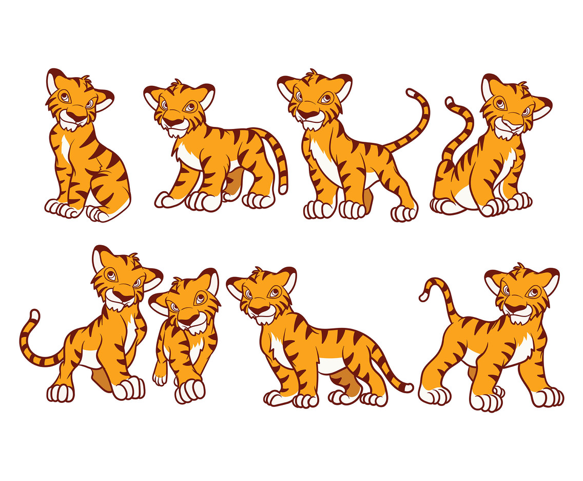 Free Cartoon Tiger Vector