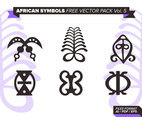 African Symbols Free Vector Pack Vol. 5