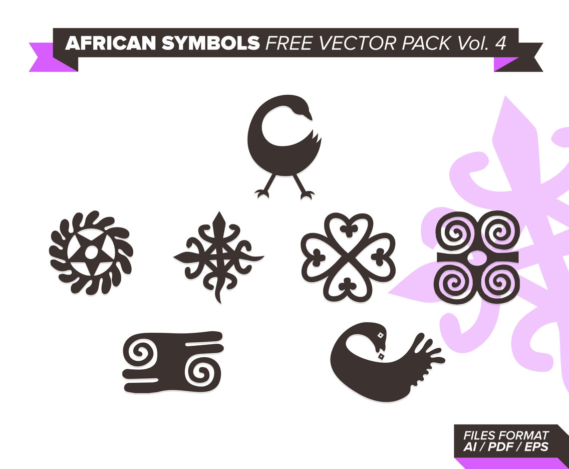 African Symbols Free Vector Pack Vol. 4